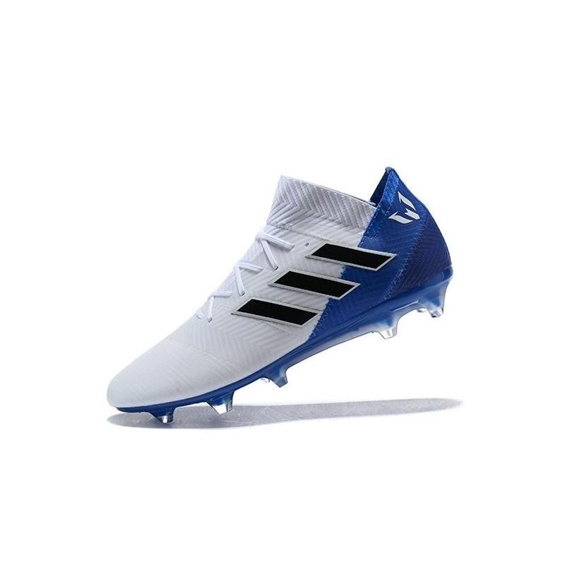 19ffcbf8f23 adidas World Cup 2018 Messi Nemeziz 18.1 FG - White Blue Maximize.  Previous. Next
