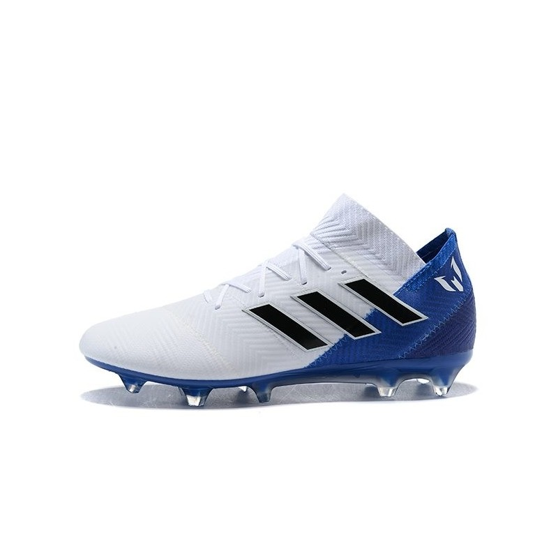 19ffcbf8f23 adidas World Cup 2018 Messi Nemeziz 18.1 FG - White Blue Maximize.  Previous. Next