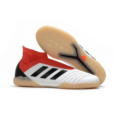adidas PP Predator Tango 18+ IN Football Boots White Red Black