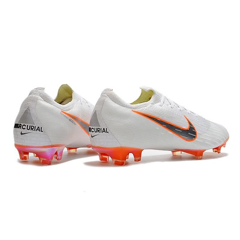 bas prix b05ed f230a Nike Mercurial Vapor XII Mens FG Football Boots - White Orange