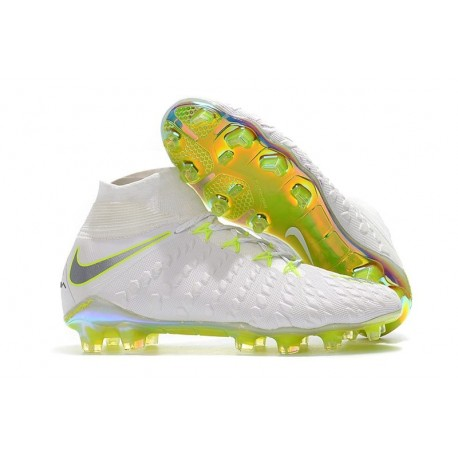 Nike Hypervenom Phantom 3 FG ACC Cleats - White Volt Grey