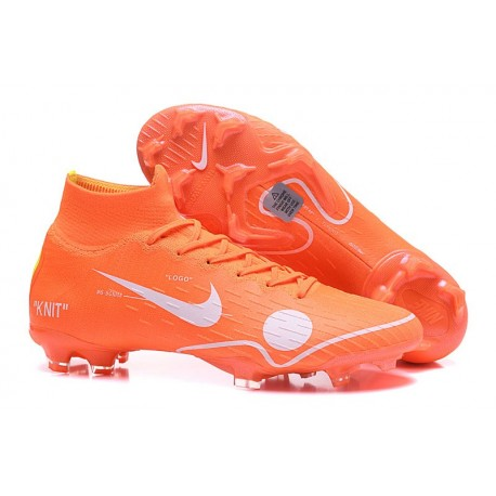 Mercurial Superfly 6 Elite FG Off White for Nike 2018 Orange