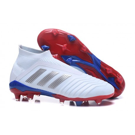 adidas Telstar Predator 18+ FG Soccer Cleats Russian White Silver