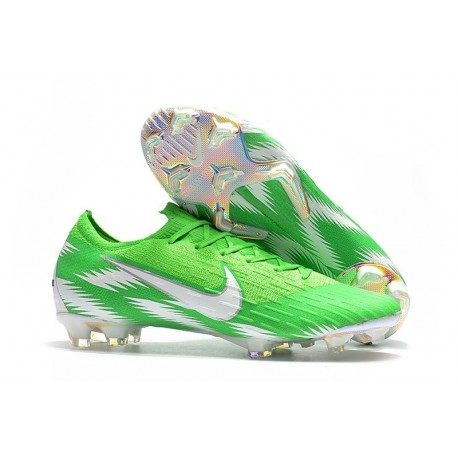 Nike Mercurial Vapor XII Mens FG Football Boots - Green Silver