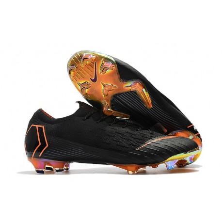 Nike Mercurial Vapor XII Mens FG Football Boots - Black Orange