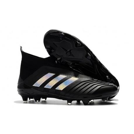 adidas New Predator 18+ FG Soccer Cleats Black Silver