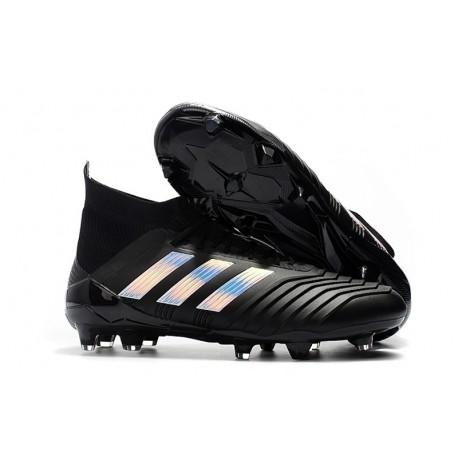 adidas Predator 18.1 Mens FG Football Boots Black Silver