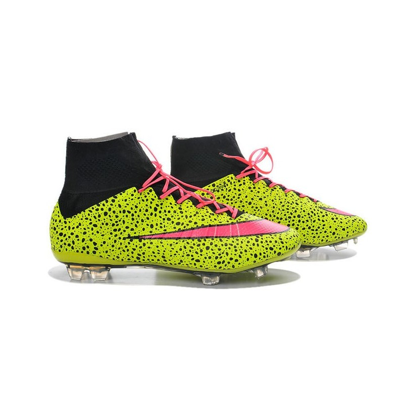 Cristiano Ronaldo Nike Mercurial Superfly 4 FG ACC Boots Safari Yellow Pink