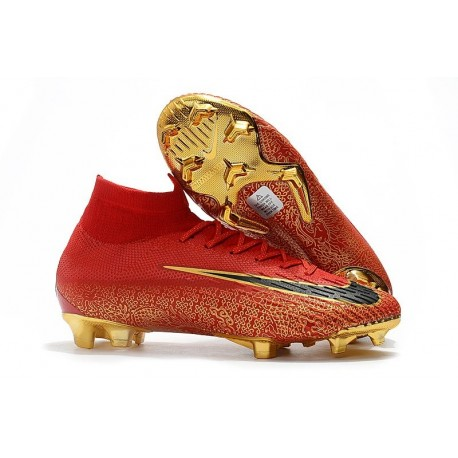 Nike Mens Mercurial Superfly 6 Elite FG Football Boots - Red Gold