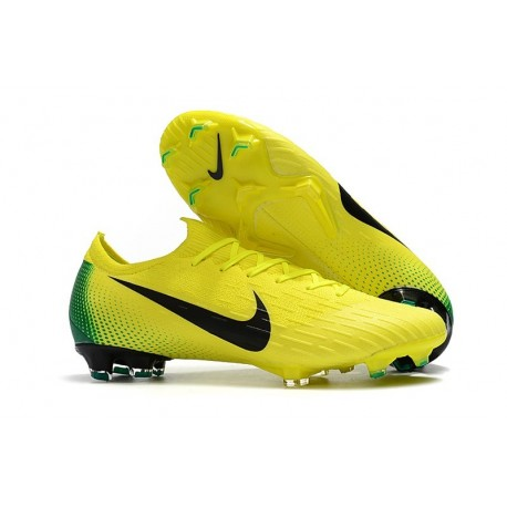 Nike Mercurial Vapor 12 FG New World Cup Cleat - Yellow Black