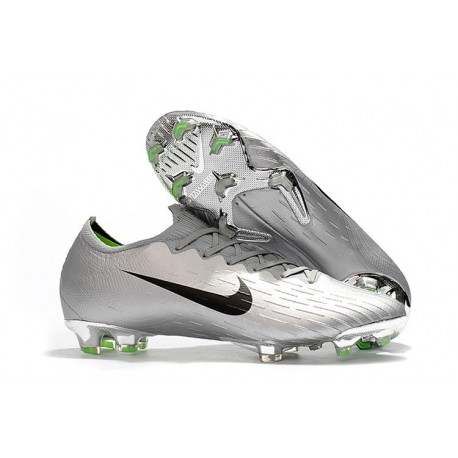 Nike Mercurial Vapor 12 FG New World Cup Cleat - Silver Black