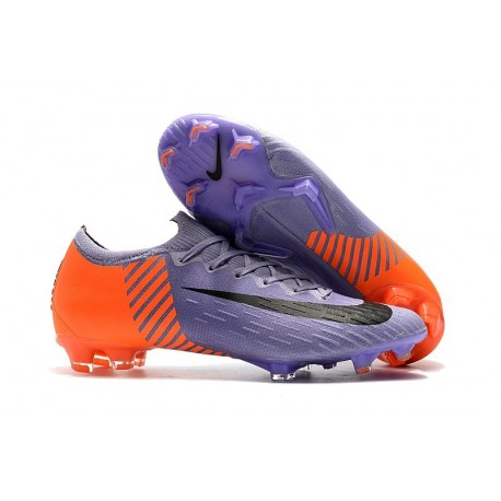Nike Mercurial Vapor 12 FG New World Cup Cleat - Purplel Orange Black