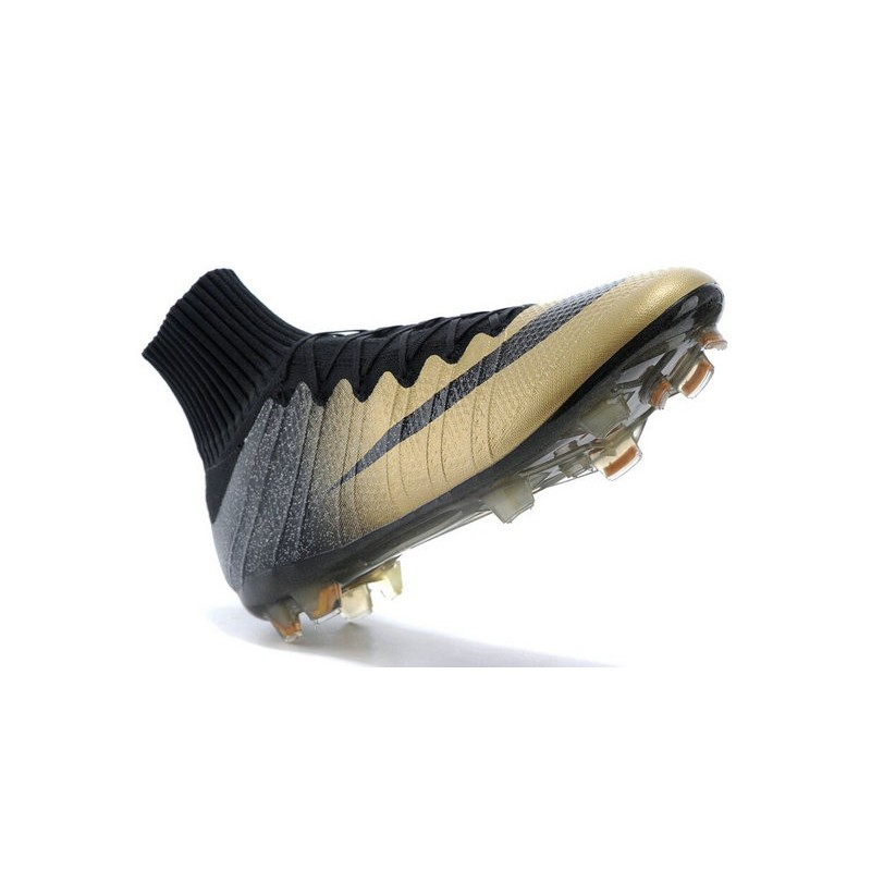 Nike Mercurial Superfly CR7 FG 'Rare Gold'  Ronaldo's Ballon D'or Boots Golden Black