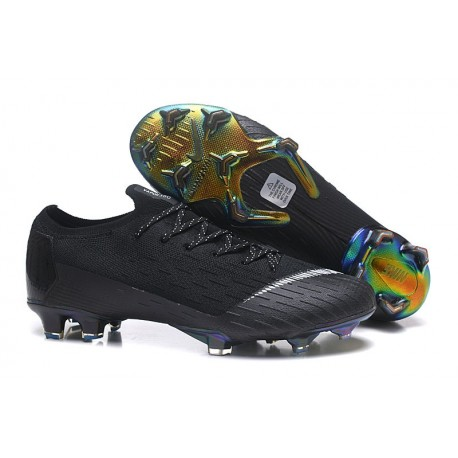 Nike Mercurial Vapor 12 FG New World Cup Cleat - Black White
