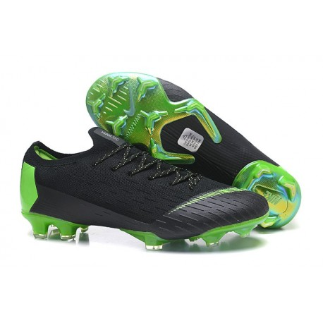 Nike Mercurial Vapor 12 FG New World Cup Cleat - Black Green