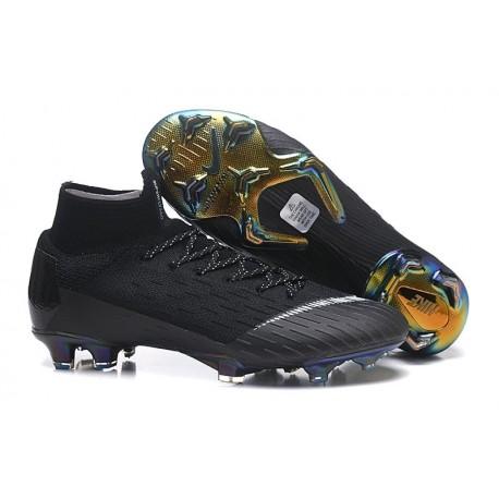 Nike Mens Mercurial Superfly 6 Elite FG Football Boots - Black White
