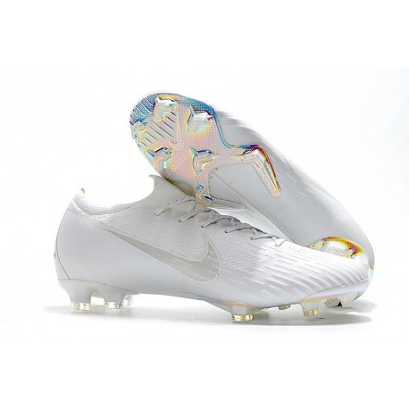 Nike Mercurial Vapor 12 FG New World Cup Cleat - Full White