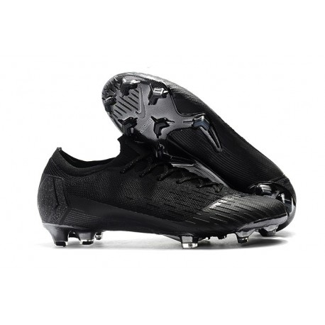 Nike Mercurial Vapor 12 FG New World Cup Cleat - All Black