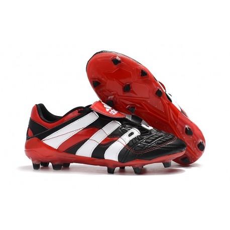 adidas Predator Accelerator FG Soccer Cleats - Black White Red