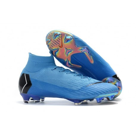 Nike Mens Mercurial Superfly 6 Elite FG Football Boots - Blue Black