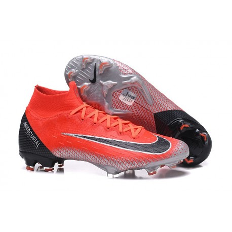 Nike New Mercurial Superfly VI 360 Elite FG Cleat - Crimson Black