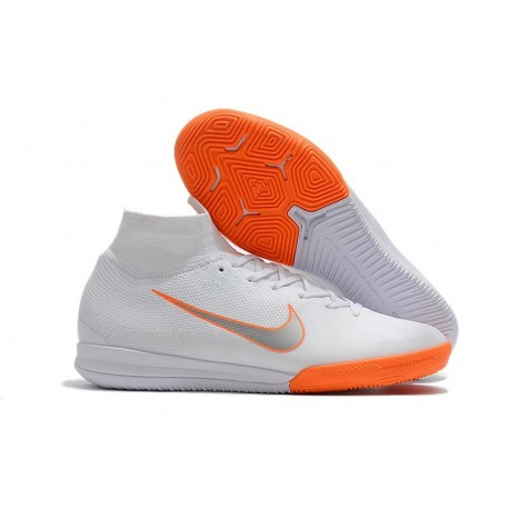 Nike Mercurial SuperflyX VI Elite IC Indoor Shoes White Orange