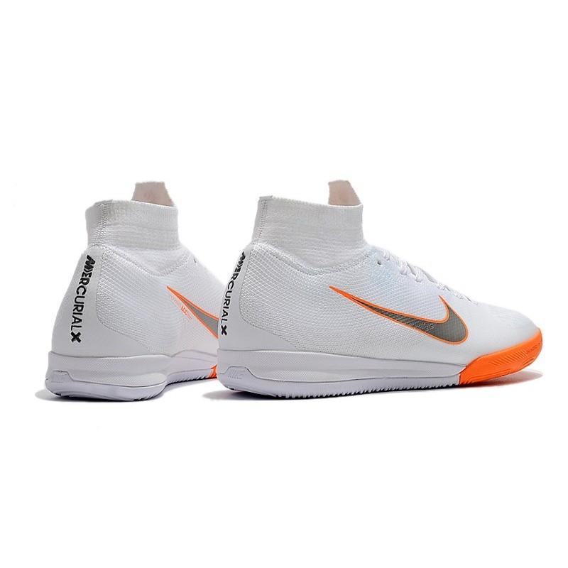 89b205605 Nike Mercurial SuperflyX VI Elite IC Indoor Shoes White Orange Maximize.  Previous. Next