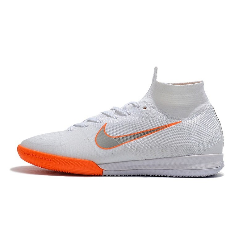 2fc66df7ee57 Nike Mercurial SuperflyX VI Elite IC Indoor Shoes White Orange Maximize.  Previous. Next