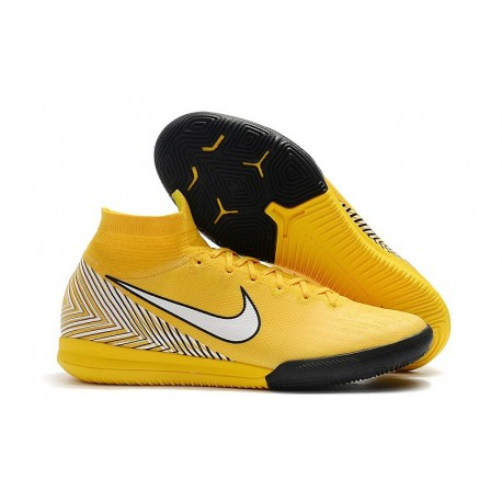 Neymar Nike Mercurial SuperflyX VI Elite IC Indoor Shoes Yellow White