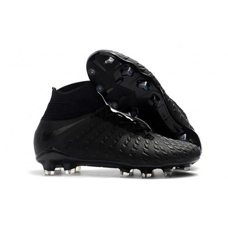 Nike Hypervenom Phantom 3 FG ACC Cleats - Black Silver