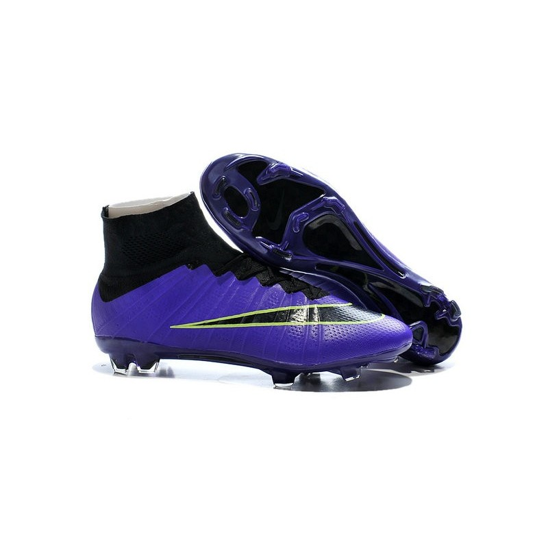 New 2015 Nike Mercurial Superfly Iv FG Football Cleats Purple Black