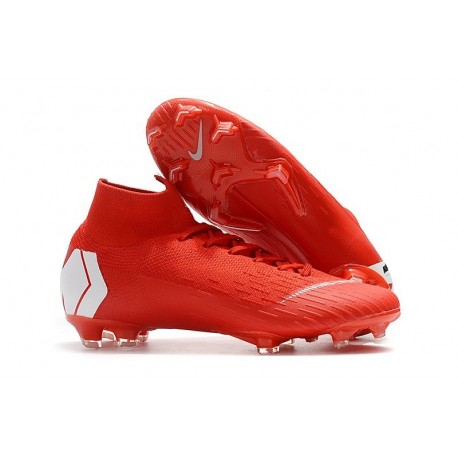 Nike New Mercurial Superfly VI 360 Elite FG Cleat - Red White