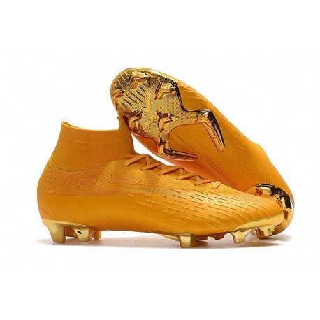 Nike New Mercurial Superfly VI 360 Elite FG Cleat - Golden