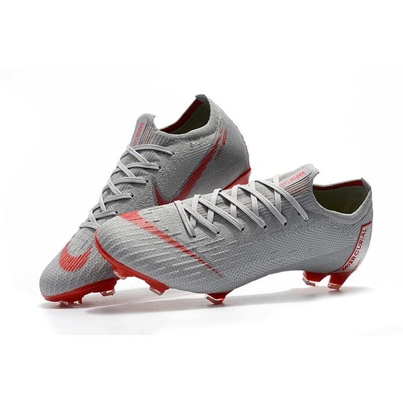 nouvelles photos 69e0b 26f2a Nike Mercurial Vapor XII Elite FG Mens Soccer Boot - Grey Red