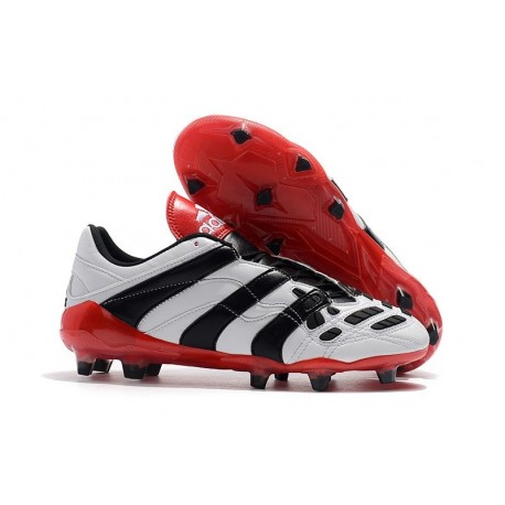 adidas Predator Accelerator FG Soccer Cleats - White Black Red