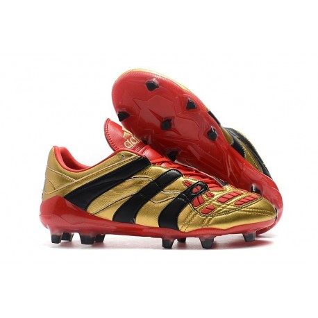 adidas Predator Accelerator FG Soccer Cleats - Gold Red Black