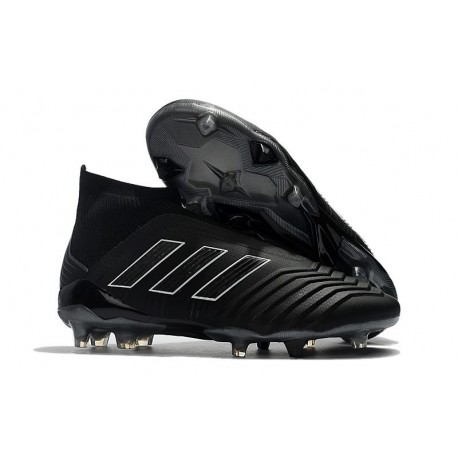 adidas New Predator 18+ FG Shadow Mode Black Soccer Cleats