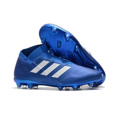 New Adidas Nemeziz 18+ FG Soccer Boots - Blue White