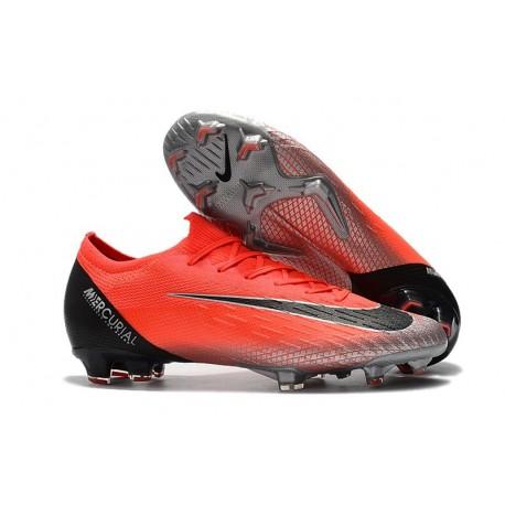 18d57888b47 Nike Mercurial Vapor XII Elite FG Ronaldo CR7 Soccer Boot - Red Black
