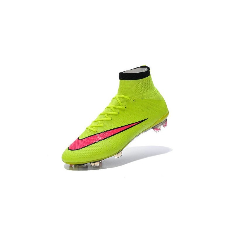 New 2015 Nike Mercurial Superfly Iv FG Football Cleats Volt Hyper Punch