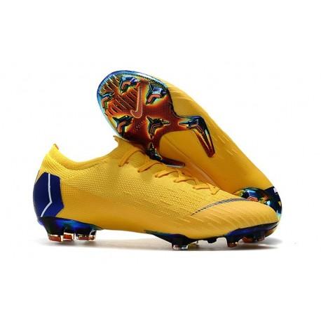 Nike Mercurial Vapor XII Elite FG Mens Soccer Boot - Yellow Blue