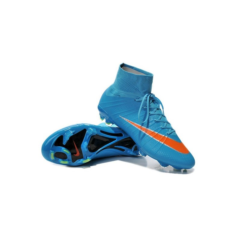 New 2015 Nike Mercurial Superfly Iv FG Football Cleats Blue Orange
