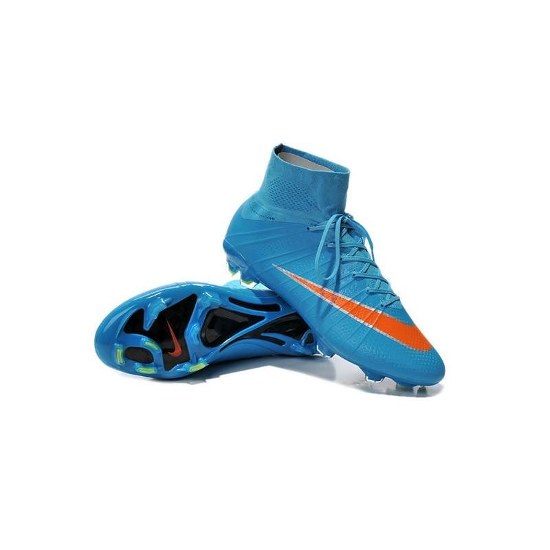 New 2015 Nike Mercurial Superfly Iv FG Football Cleats Blue Orange