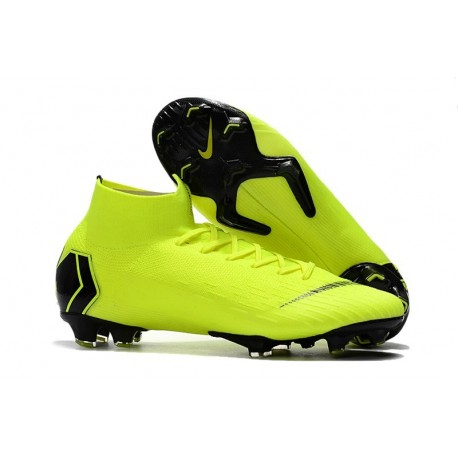 Nike New Mercurial Superfly VI 360 Elite FG Cleat - Volt Black