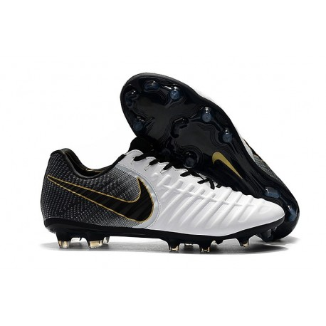Nike Tiempo Legend VII FG Men's Soccer Cleats - White Black