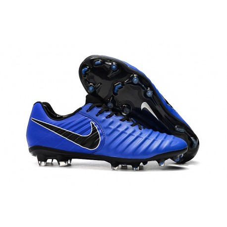 Nike Tiempo Legend VII FG Men's Soccer Cleats - Blue Black