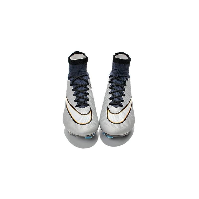 New 2015 Nike Mercurial Superfly Iv CR7 FG metallic Silver White Hyper Turq Black