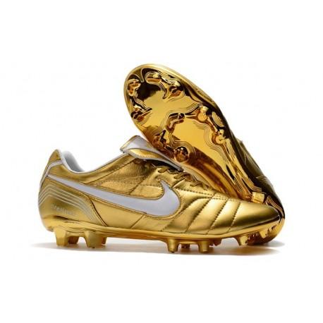 Nike Tiempo Legend VII R10 FG Men's Soccer Cleats - Golden White