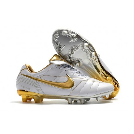 Nike Tiempo Legend VII R10 FG Men's Soccer Cleats - White Golden