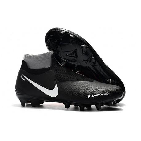 New Nike Phantom Vision Elite DF FG Soccer Boots - Black Red White